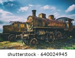 vintage looking photo of two... | Shutterstock . vector #640024945
