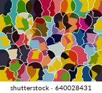 people talking  thinking... | Shutterstock .eps vector #640028431