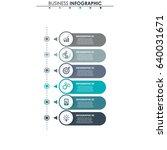 business data. process chart.... | Shutterstock .eps vector #640031671