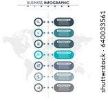 business data. process chart.... | Shutterstock .eps vector #640033561
