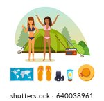 summer travel and vacation....   Shutterstock .eps vector #640038961