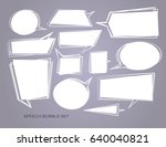 hand drawn set of speech bubbles | Shutterstock .eps vector #640040821
