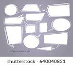 hand drawn set of speech bubbles | Shutterstock .eps vector #640040821