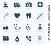 medical icon set | Shutterstock .eps vector #640041001
