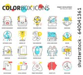 color box icons  project... | Shutterstock .eps vector #640041361