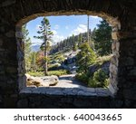 View Of Glacier Point Trail An...