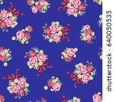 rose illustration pattern | Shutterstock .eps vector #640050535