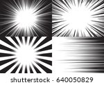 four templates for comic... | Shutterstock .eps vector #640050829