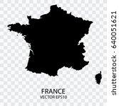 transparent   vector black map... | Shutterstock .eps vector #640051621