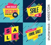 sale banners template design | Shutterstock .eps vector #640057234