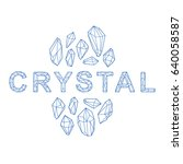 cristal vector beautiful design. | Shutterstock .eps vector #640058587