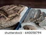 homemade bread  ingredients... | Shutterstock . vector #640058794