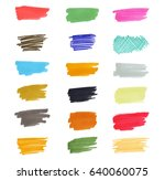 set of vector hand drawn with... | Shutterstock .eps vector #640060075