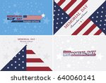 set happy memorial day.... | Shutterstock .eps vector #640060141