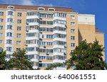 a modern seventeen storey panel ...   Shutterstock . vector #640061551