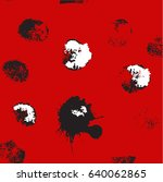 vector hand drawn ink dots.... | Shutterstock .eps vector #640062865