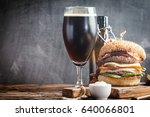 homemade fresh hamburger and... | Shutterstock . vector #640066801