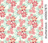 seamless gorgeous pattern in... | Shutterstock . vector #640067875