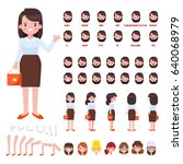 flat vector girl character for... | Shutterstock .eps vector #640068979