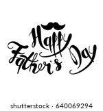 happy fathers day. handmade... | Shutterstock .eps vector #640069294