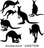 kangaroo   vector | Shutterstock .eps vector #64007308