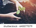world environment day concept ... | Shutterstock . vector #640077079