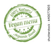 vegan menu grunge stamp   vector | Shutterstock .eps vector #640077805