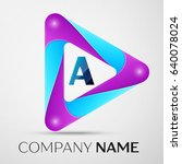 letter a logo symbol in the... | Shutterstock . vector #640078024