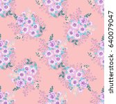 seamless gorgeous pattern in... | Shutterstock . vector #640079047