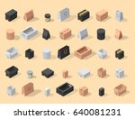 different box vector isometric... | Shutterstock .eps vector #640081231