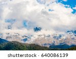 mountains covered with forest... | Shutterstock . vector #640086139