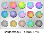 vector glossy paint drops... | Shutterstock .eps vector #640087741