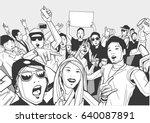 illustration of asian festival... | Shutterstock .eps vector #640087891
