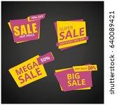 limited offer mega sale banner. ... | Shutterstock .eps vector #640089421