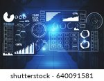 dark interior with digital...   Shutterstock . vector #640091581