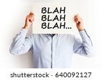 employee not listening  blah... | Shutterstock . vector #640092127