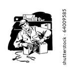 radio repairman 3 | Shutterstock .eps vector #64009585