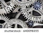 macro photo of tooth wheels... | Shutterstock . vector #640098355