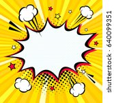 comic empty speech bubble with... | Shutterstock .eps vector #640099351