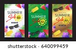 summer sale background layout... | Shutterstock .eps vector #640099459