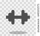 barbell icon sport vector... | Shutterstock .eps vector #640101571