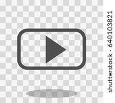 video play icon stock vector... | Shutterstock .eps vector #640103821