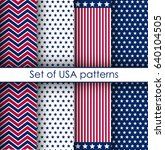 set of usa independence day and ... | Shutterstock .eps vector #640104505