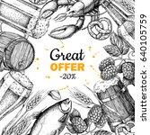beer vector discount banner.... | Shutterstock .eps vector #640105759