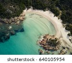 aerial view of the sardinian...   Shutterstock . vector #640105954