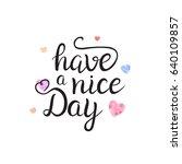 vector isolated handwritten... | Shutterstock .eps vector #640109857