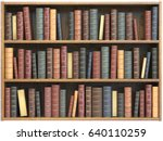 Vintage Books On Bookshelf...