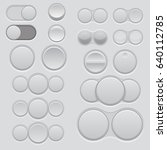 set of blank web buttons. round ...