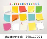 different color paper stickers... | Shutterstock .eps vector #640117021
