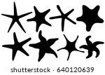 set of different starfish... | Shutterstock .eps vector #640120639